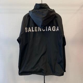 Balenciaga - オールシーズン*【BALENCIAGA】ロゴレインコート ブラック