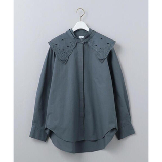 BEAUTY&YOUTH UNITED ARROWS - <6(ROKU)>EMBROIDERY COLLAR BLOUSE