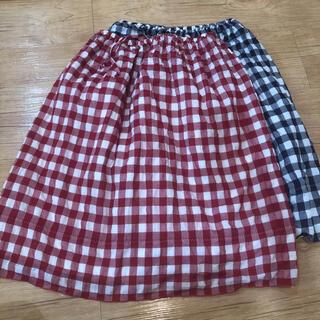 コムサイズム(COMME CA ISM)のコムサイズム ギンガムチェック スカート 赤 青(ひざ丈スカート)