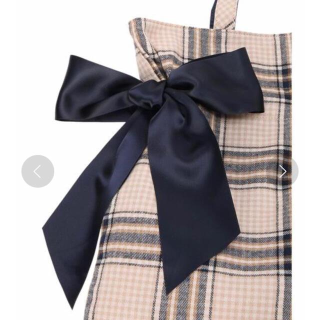Maison de FLEUR(メゾンドフルール)のチェック柄が可愛い!メゾンドフルール♡ チェックダブルリボントートバッグ♡ レディースのバッグ(トートバッグ)の商品写真