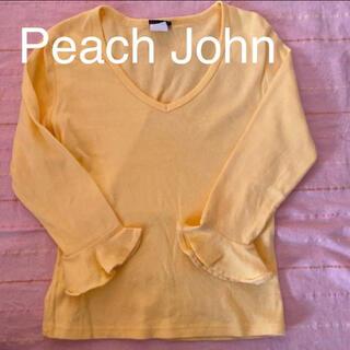 ピーチジョン(PEACH JOHN)の☆ピーチジョン PJ  カットソー イエロー Sサイズ(Tシャツ(長袖/七分))