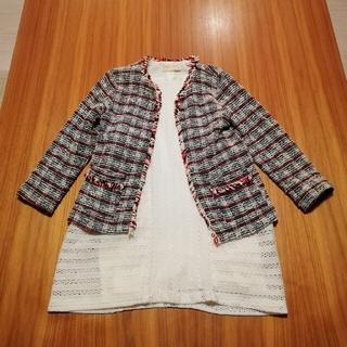 ザラ(ZARA)のザラ ジャケット ワンピース セット (ドレス/フォーマル)