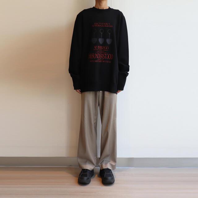 kolor(カラー)のYuki Hashimoto ユウキハシモト スウェット トレーナー ブラック メンズのトップス(スウェット)の商品写真