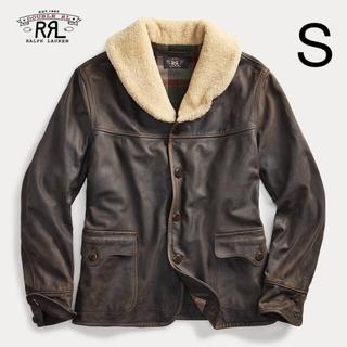 RRL - 【新品】シアリングカラー レザー コート S