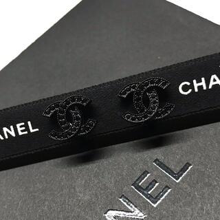 CHANEL ブラックストーンイヤリング