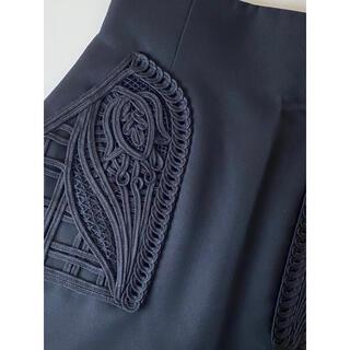 mame - 新品 ♡ mame マメ 刺繍 スカート ブラック size2