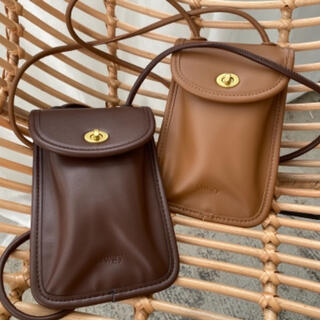 mystic - lawgy mini twist shoulder bag ブラウン