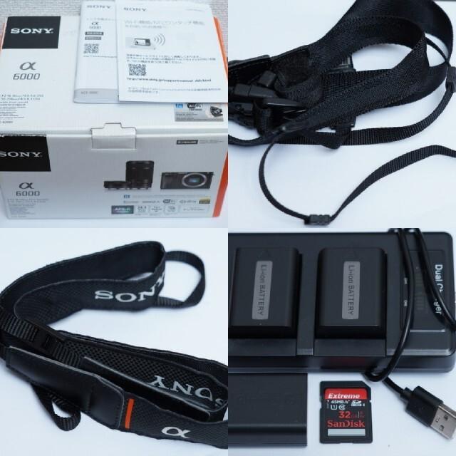 SONY(ソニー)のSONY ソニー α6000  ミラーレス スマホ/家電/カメラのカメラ(ミラーレス一眼)の商品写真