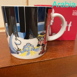 アラビア(ARABIA)のセール❗️アラビア 新品旧ロゴ廃盤 2007スノーランタン ムーミン マグカップ(グラス/カップ)