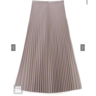 グレイル(GRL)のレザーライクプリーツスカート  グレージュ(ロングスカート)