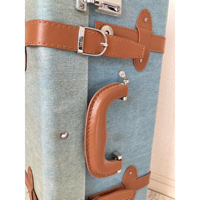 POLO RALPH LAUREN(ポロラルフローレン)のU.S.POLO ASSN. デニム地風 スーツケース レディースのバッグ(スーツケース/キャリーバッグ)の商品写真