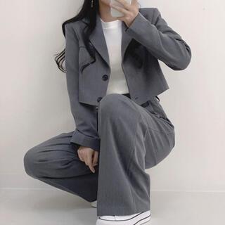 STYLENANDA - 【予約商品】《2カラー》セットアップ クロップドJK スラックス 韓国 春