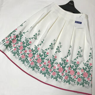 M'S GRACY - エムズグレイシー ♡お花刺繍スカート♡ピンク♡カタログ掲載♡40