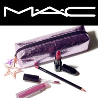 マック(MAC)のMAC 限定発売スターリット リップバッグ プラム コスメポーチ(コフレ/メイクアップセット)