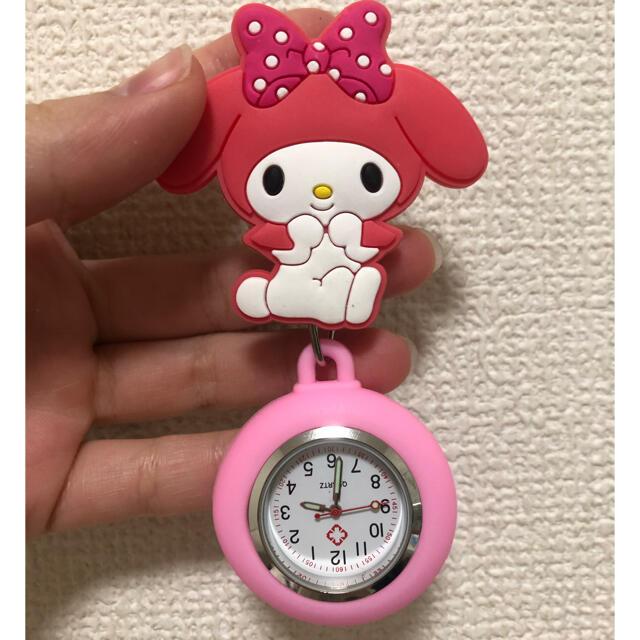 マイメロディ(マイメロディ)の新品 マイメロディ 時計 ナースウォッチ サンリオ エンタメ/ホビーのおもちゃ/ぬいぐるみ(キャラクターグッズ)の商品写真