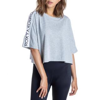 Roxy - 新品 ROXY ロキシー Tシャツ ショート グレー レディーストップス