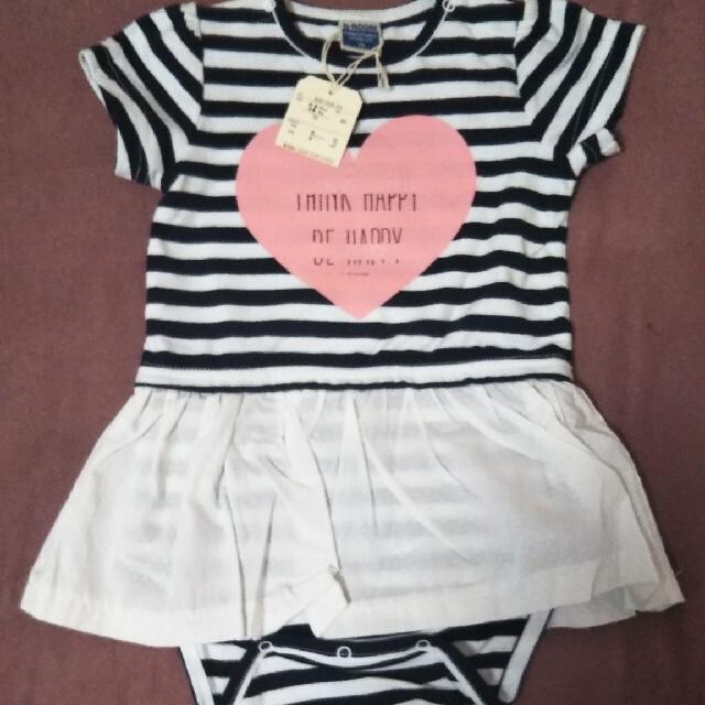 新品!Si・Shu・Non & b room 女の子夏用ワンピ、ロンパース70 キッズ/ベビー/マタニティのベビー服(~85cm)(ロンパース)の商品写真