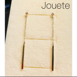 ete - 【Jouete】K10YG ストレイト ダイヤバーピアス