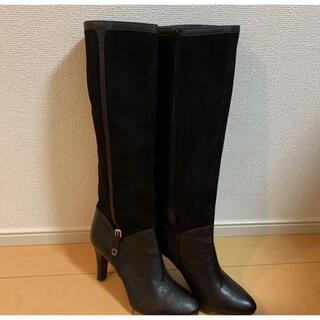DIANA - 新品 DIANA ダイアナ スエード ロングブーツ 黒 24.5