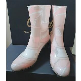 レディー(Rady)のRady 超美品 長靴 レインブーツ ミルフルール柄 レディ 送料込 売切れ御免(レインブーツ/長靴)