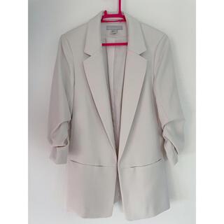 H&M - H&M エイチアンドエム ジャケット ホワイト アイボリー テーラードジャケット