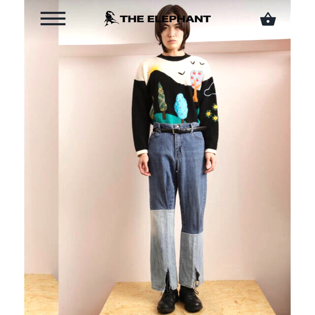 LOEWE(ロエベ)の90s リメイクデニム 切り替え 良デザイン メンズのパンツ(デニム/ジーンズ)の商品写真