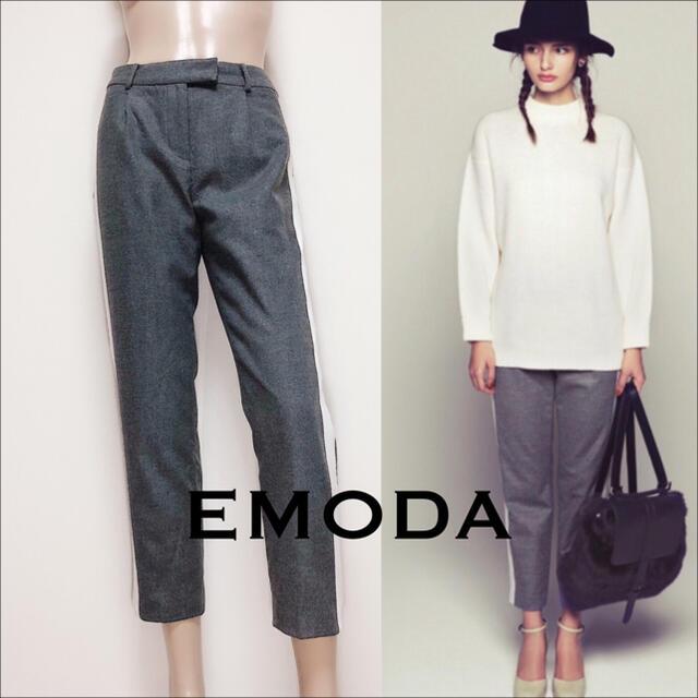 EMODA(エモダ)のEMODA ワイドライン パンツ♡スパイラルガール ムルーア SLY ZARA レディースのパンツ(カジュアルパンツ)の商品写真