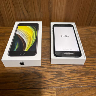 アイフォーン(iPhone)のiPhone SE 2 ブラック 64GB SIMフリー 新品未使用①(スマートフォン本体)