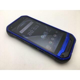 キョウセラ(京セラ)のSIMフリー良品au京セラ TORQUE G03 KYV41 ブルー 352(スマートフォン本体)