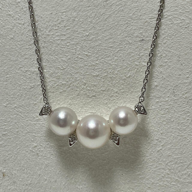 TASAKI(タサキ)のタサキ パール×ダイヤ ペンダント K18 美品 レディースのアクセサリー(ネックレス)の商品写真