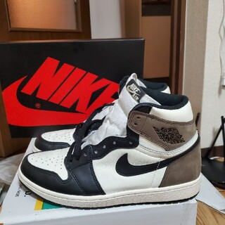 NIKE - NIKE AIR JORDAN 1 HIGH OG SAIL/DARK MOCH