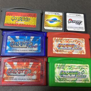 ゲームボーイアドバンス(ゲームボーイアドバンス)のゲームソフト ゲームボーイアドバンス 任天堂DS ポケモンセット(携帯用ゲームソフト)