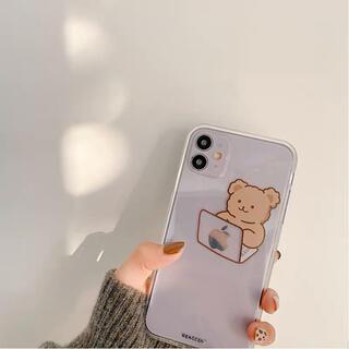【パソコンクマちゃん】iPhone12 PRO iPhoneケース スマホケース