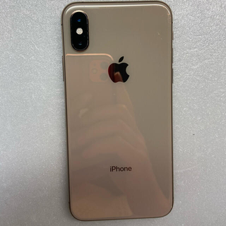 iPhone - iphoneXS Gold 64Gb Simフリーバッテリー99%