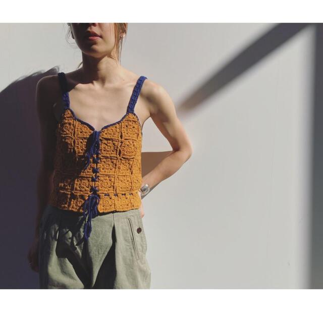 Fabiane Roux(ファビアンルー)のnowos ニットキャミソール sサイズ 2021ss レディースのトップス(キャミソール)の商品写真