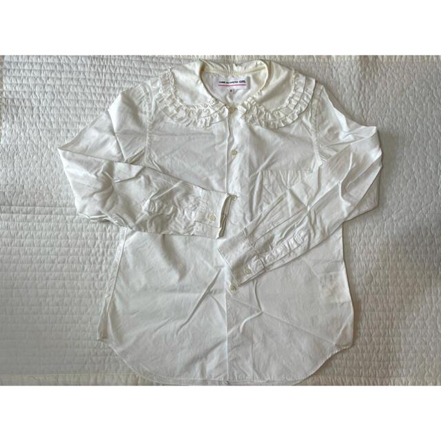 COMME des GARCONS(コムデギャルソン)のコムデギャルソンガール CDG GIRL フリル襟ブラウス シャツ Sサイズ レディースのトップス(シャツ/ブラウス(長袖/七分))の商品写真