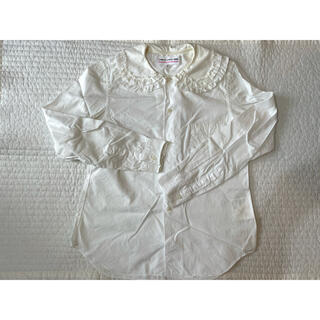 コムデギャルソン(COMME des GARCONS)のコムデギャルソンガール CDG GIRL フリル襟ブラウス シャツ Sサイズ(シャツ/ブラウス(長袖/七分))