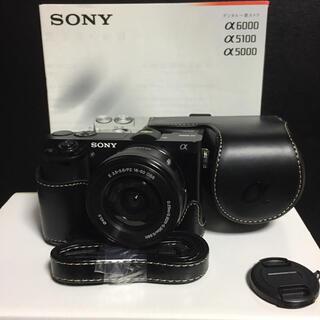 SONY - 新品ケース★Wi-Fi★高画質フルHD★SONY α6000 ミラーレス☆黒&黒