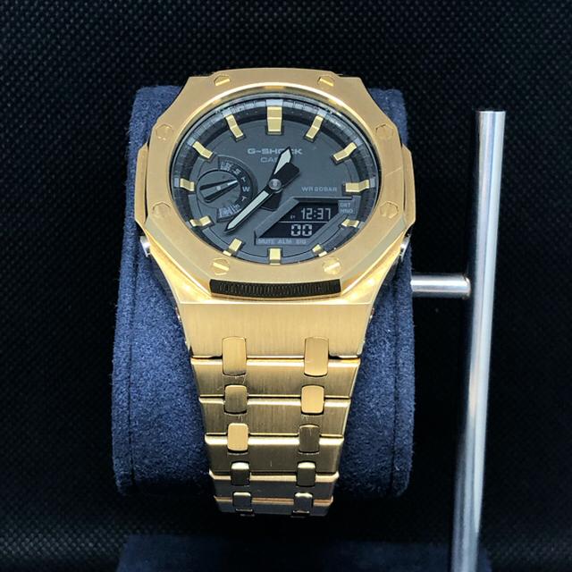 G-SHOCK(ジーショック)のGA-2100本体付き ラバーベルトセット カシオーク カスタム Gショック メンズの時計(腕時計(アナログ))の商品写真
