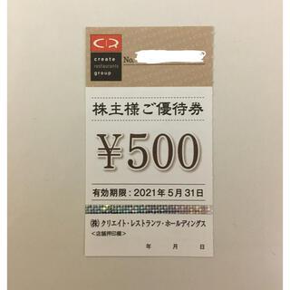クリエイトレストランツ 株主優待 500円