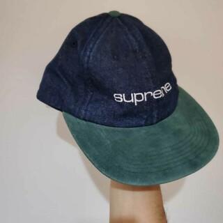 Supreme - Supreme 18SS Denim Suede cap シュプリーム