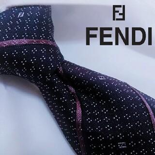 FENDI - 超美品 fendi ハイブランド ネクタイ シルク イタリア製