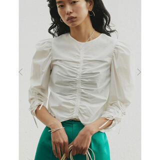 Ameri VINTAGE - 2WAY LADY FISHBONE BLOUSE  アメリヴィンテージ