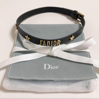 クリスチャンディオール(Christian Dior)のDior ディオール J'ADIOR ロゴ ブレスレット チョーカー レザー 星(ブレスレット/バングル)
