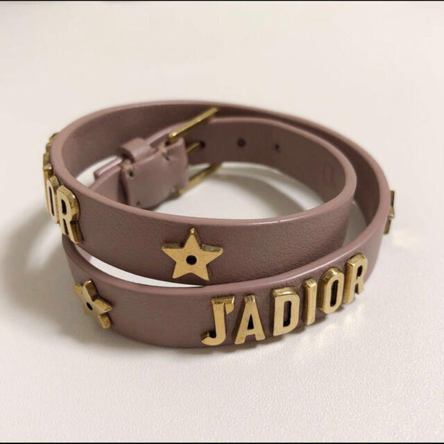 Christian Dior(クリスチャンディオール)のDior ディオール J'ADIOR ロゴ ブレスレット チョーカー レザー レディースのアクセサリー(ブレスレット/バングル)の商品写真