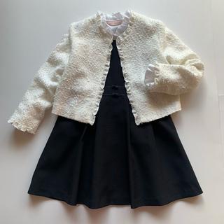mikihouse - ミキハウス♡入学式 フォ-マル ジャケット ツイ-ドジャケット 白♡130