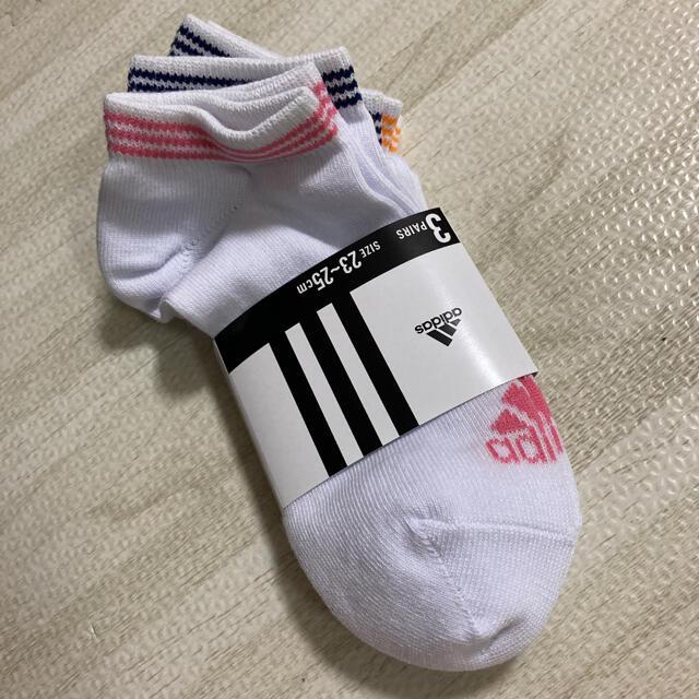 adidas(アディダス)の新品 アディダス adidas 靴下 ソックス 3足セット レディース23〜25 レディースのレッグウェア(ソックス)の商品写真