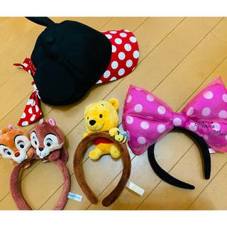 ディズニー(Disney)のディズニーキャップ 耳付き帽子  4点セット(キャラクターグッズ)