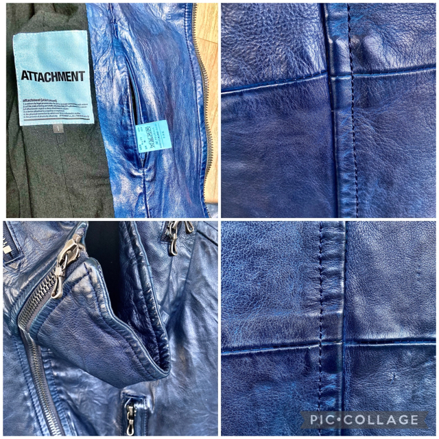 ATTACHIMENT(アタッチメント)のATTACHMENT レザー アタッチメント backlash メンズのジャケット/アウター(レザージャケット)の商品写真
