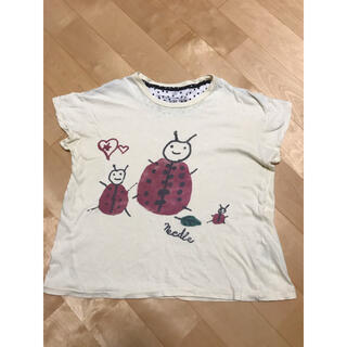 ニードルワークスーン(NEEDLE WORK SOON)のNEEDLE WORK SOON☆てんとう虫Tシャツ110cm(Tシャツ/カットソー)